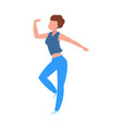 dancing woman cartoon dancer isolated female vector image