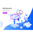data security isometric concept modern flat vector image vector image