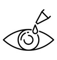 dropper eye icon outline style vector image vector image