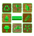 environmental nature and eco sign set vector image vector image