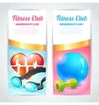 Fitness club card design vector image vector image