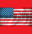 flag of usa with washington skyline vector image vector image