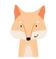 fox cute animal baby face vector image
