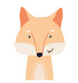 fox cute animal baface vector image