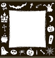 frame with halloween elements vector image
