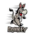 funny donkey mascot vector image vector image