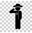gentleman officer icon vector image vector image
