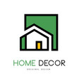 geometric logo with abstract building vector image vector image