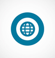globe bold blue border circle icon vector image vector image