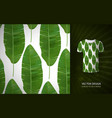 green tropical palm leaves seamless pattern vector image