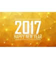 Greeting card Happy New Year 2017 Polygonal vector image vector image