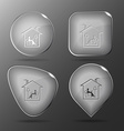 Home reading Glass buttons vector image