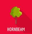 hornbeam tree icon flat style vector image vector image