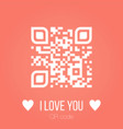 i love you qr code on pink background can be used vector image vector image