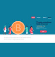 indian business people mining bitcoin crypto vector image vector image