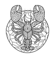 Lobster coloring book for adults vector image vector image