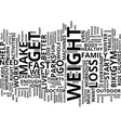 loss weight fast text background word cloud vector image vector image