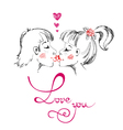 Man and woman kissing Love you Valentines Day vector image