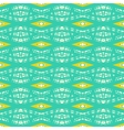 Modern geometric pattern in bright tropical colors vector image