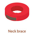 neck brace icon isometric 3d style vector image vector image