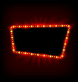neon lamps billboard cinema and theater signage vector image