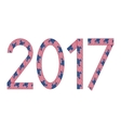 New Year 2017 made of USA flags vector image vector image