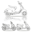 outline scooter vector image vector image