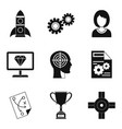 own business icons set simple style vector image vector image