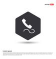 phone receiver icon hexa white background icon vector image