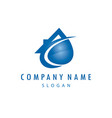 plumber company logo vector image vector image