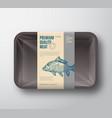 premium quality carp abstract fish plastic vector image vector image