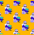 quirky businessman seamless pattern vector image vector image