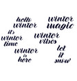 quotes about winter winter lettering vector image