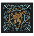 royal emblem with mythical animal vector image vector image