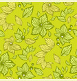 seamless graphic pattern with leaves beads and vector image vector image