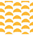 seamless pattern with croissant in flat style vector image vector image