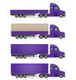 semi truck trailer 06 vector image vector image