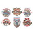set color vintage badges emblems vector image