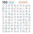 set line icons science vector image vector image