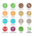 set of food allergens vector image vector image