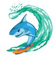 Shark surfer