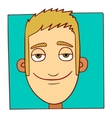 Smiling character face vector image vector image