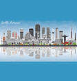 south america skyline with famous landmarks and vector image vector image