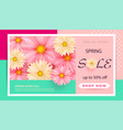 spring sale banner template with paper spring vector image