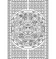stylized aztec calendar vector image
