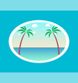 summer paradise poster with palm trees background vector image