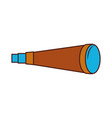 telescope device isolated icon vector image vector image