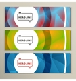 three colorful pictures with bright circles vector image