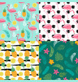 tropical seamless pattern collection with exotic vector image vector image