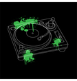 Turntable Outline Design vector image vector image